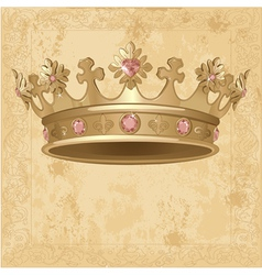 Royal Crown background vector image