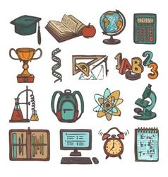 School education sketch icons vector image vector image