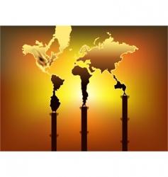 smoky world vector image vector image
