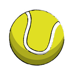 Tennis sport ball image vector