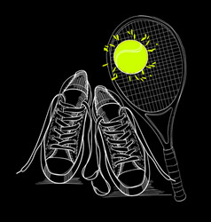drawing isolated objects sneakers vector image vector image