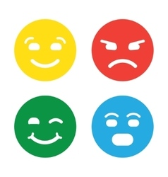 Feedback in form of emotions smileys emoji vector image