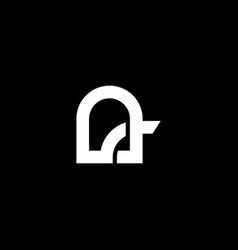 abstract monogram letter a logo icon design vector image