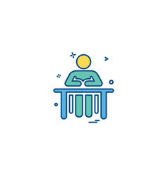 administrative desk reception icon desige vector image