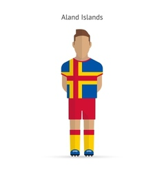 Aland Islands football player Soccer uniform vector
