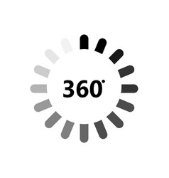 angle 360 degrees icon 360 degrees view sign on vector image