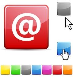 Arroba glossy button vector image
