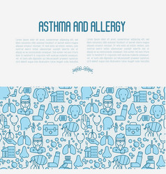 asthma and allergy concept vector image