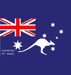 australia day kangaroo vector image