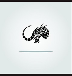 Awesome black dragon vector