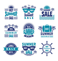 badges summer sale advertising pictures vector image