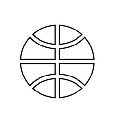 Basketball ball black color icon vector