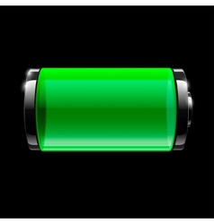 Battery full icon vector