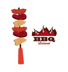 bbq fresh and delicious food design vector image