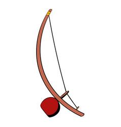 berimbau percussion instrument icon cartoon vector image