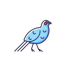 Bird blue rgb color icons set vector