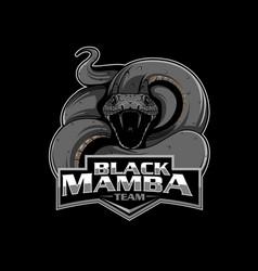 black mamba insignia vector image