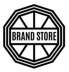 Brand store stamp on white vector