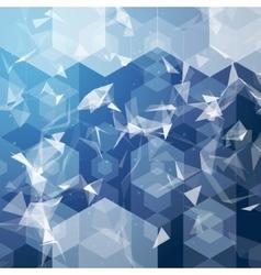 business hexagonal background Business vector image vector image