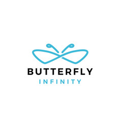 Butterfly infinity logo icon vector