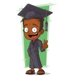 Cartoon happy Hindu student vector