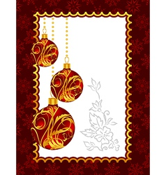 celebration christmas card with balls vector image