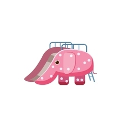 Childrens slide elephant icon cartoon style vector image