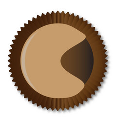Chocolate box moon shape vector