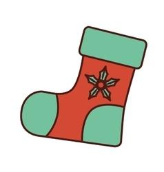 Christmas socks decorative icon vector