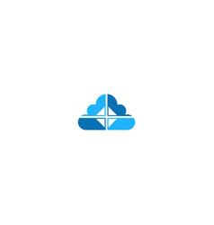 Cloud window technology logo vector