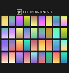 Colored gradient set vector