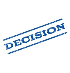 Decision watermark stamp vector