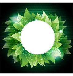 Dense green foliage vector