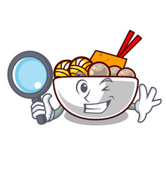 detective meatball in a mascot shape vector image
