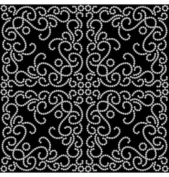 Dotted swirl pattern vector