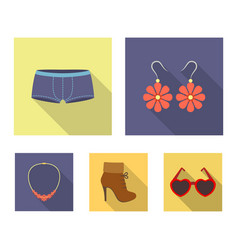 earrings bijouterie clothes fashion and other vector image