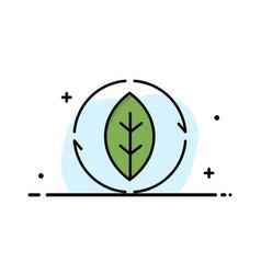 Energy green source power business flat line vector