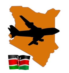 fly me to the Kenya vector image