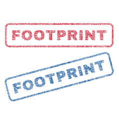 Footprint textile stamps vector