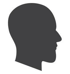 gentleman profile flat icon symbol vector image