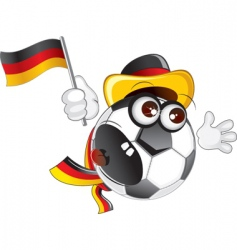 german ball vector image