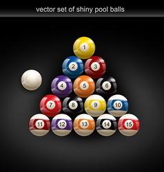 glossy pool ball vector image