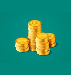 golden coins increase vector image
