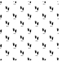 Gorilla step pattern seamless vector