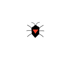 graphic silhouette of a bug icon vector image