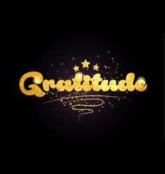 Gratitude star golden color word text logo icon vector