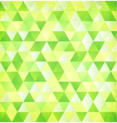 Green abstract triangle vintage background vector image vector image