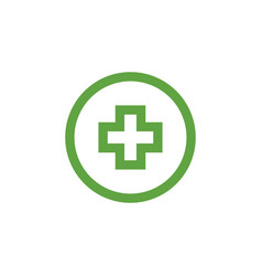 green medical cross graphic design template vector image