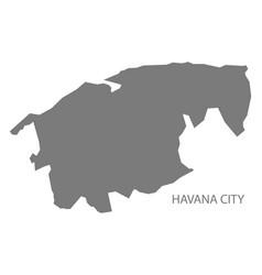 Havana city cuba map grey vector