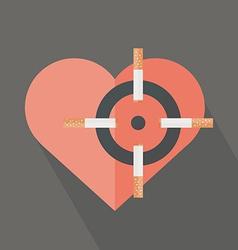 Hearth attack cigarettes vector